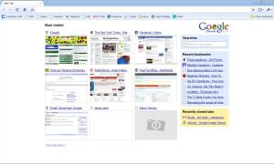 Google Chrome's Interface and Tab Page