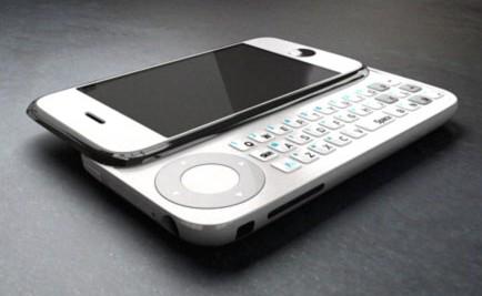 iPhone met toetsenbord