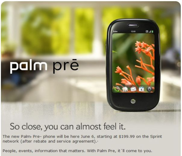 palm pre launch pic