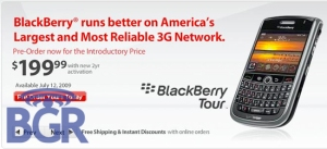 BlackBerry Tour verizon