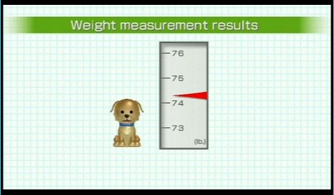 wii fit plus dog weight